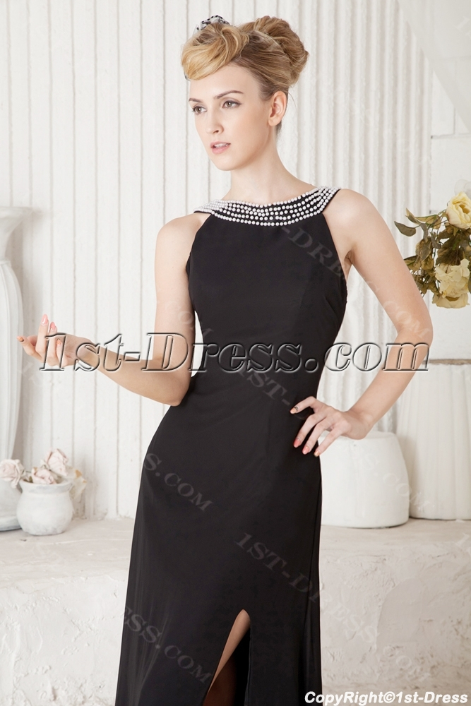 Elegant Long Black Prom Dresses 2013 Cheap:1st-dress.com