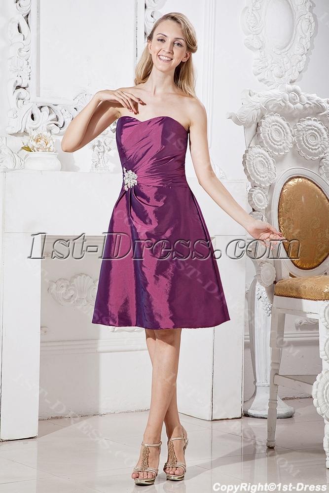 ... > Graduation Dresses >Grape Cheap Graduation Dresses for Juniors