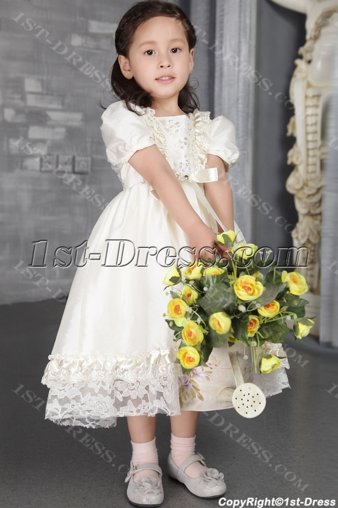 a6c848cb7f0 Ivory Flower Girl Dresses for Toddlers and Infants 2542 (Free Shipping)