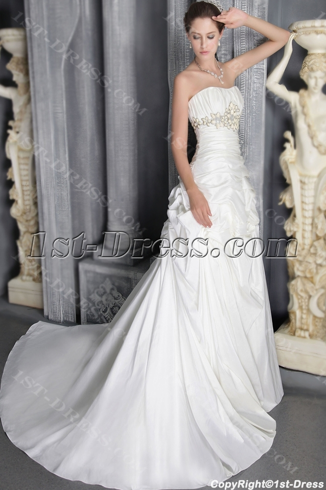 Ivory long outdoor wedding dresses 2012 long 2795 1st for Wedding dresses for outside