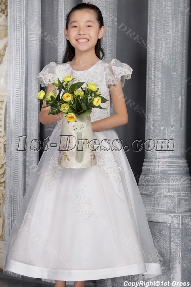 Ivory Mini Bridal Gowns for Little Girl 2517:1st-dress.com