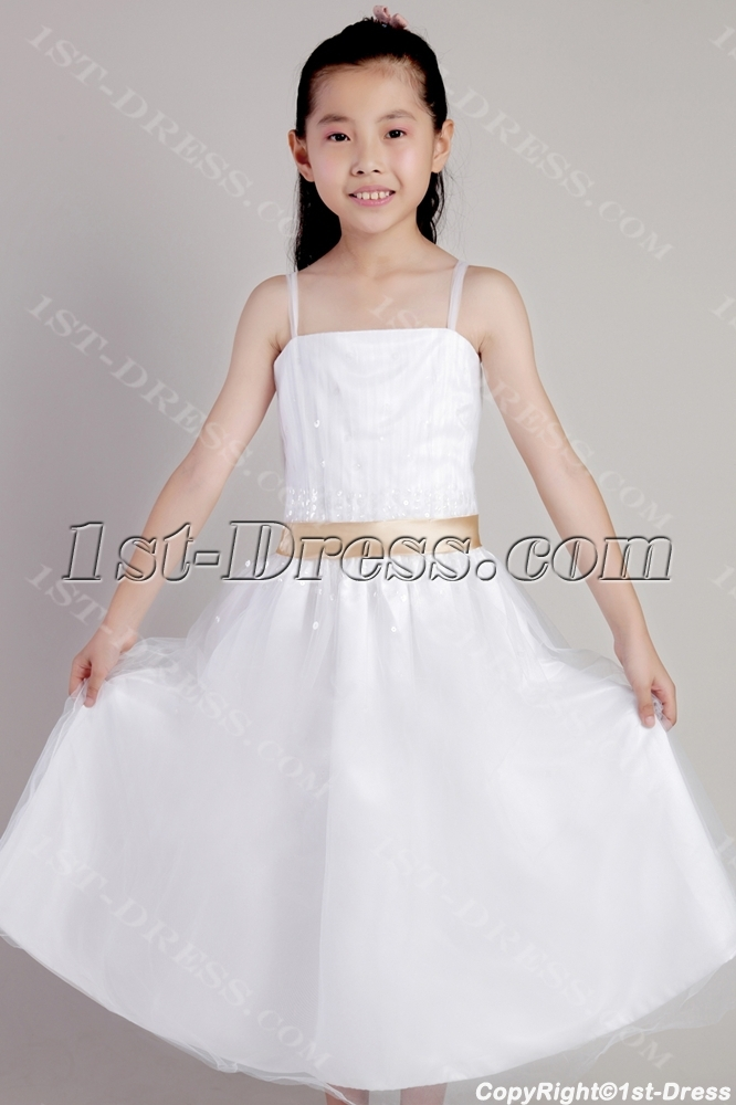 d8d564075b3f Ivory Spaghetti Straps Flower Girl Dresses for Less 2317 (Free Shipping)