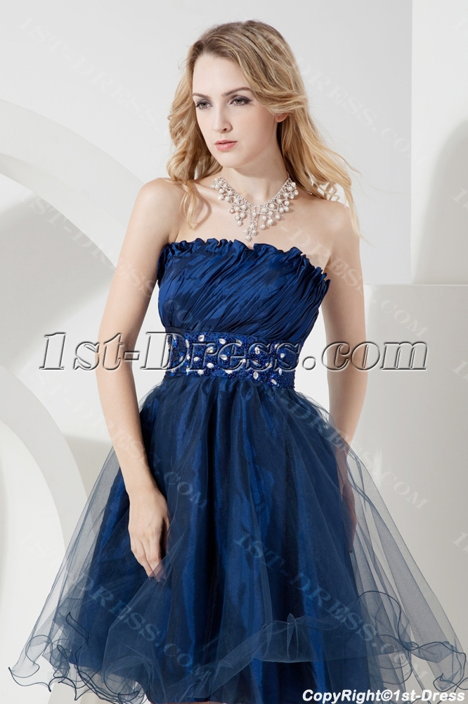Occasion Dresses > Prom Dresses > Graduation Dresses >Lovely Navy Blue ...