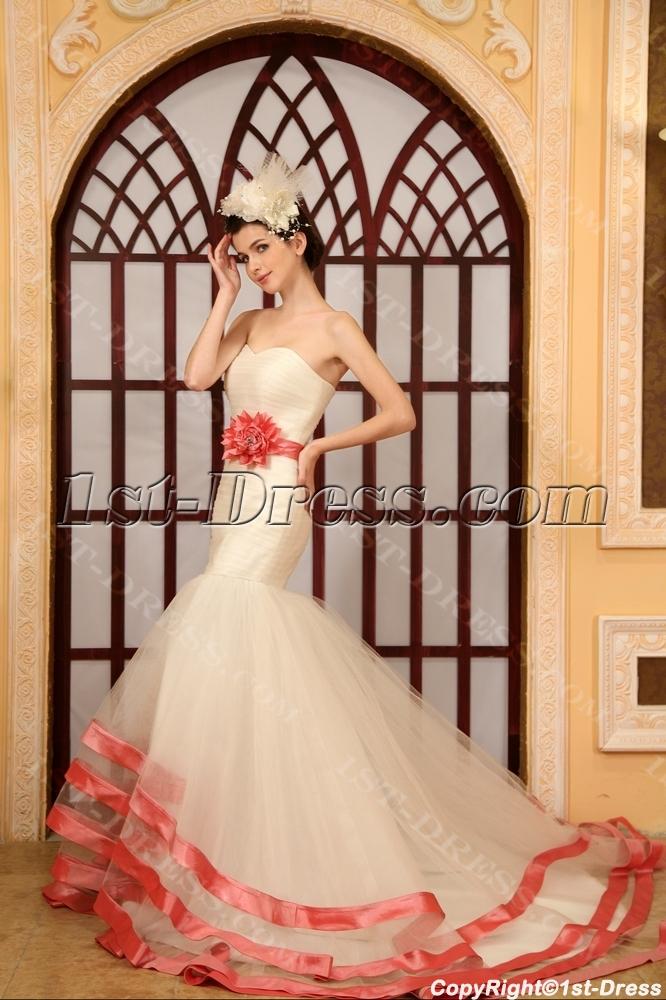 images/201306/big/Mermaid-Sweetheart-Chapel-Train-Organza-Wedding-Dress-With-Sashes-Flower(s)-2060-b-1-1371828930.jpg