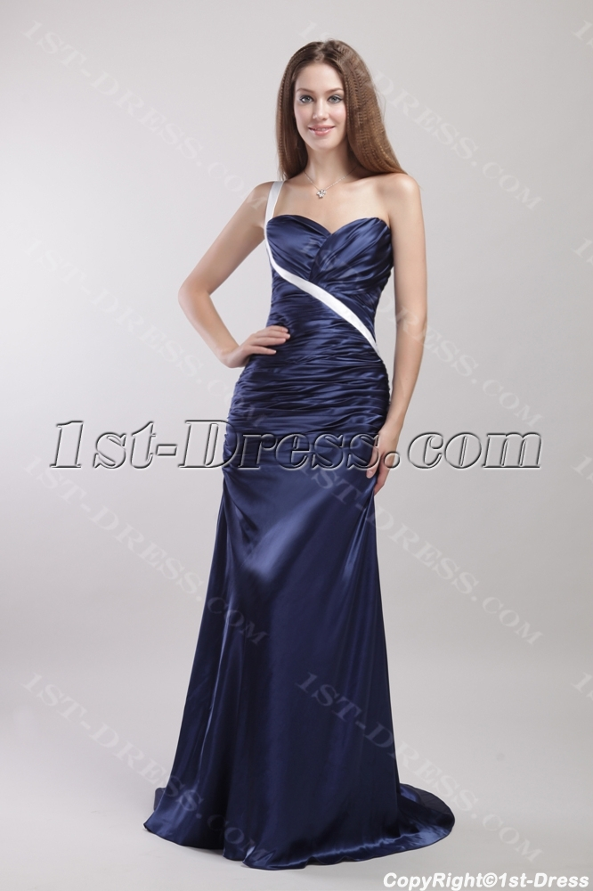 Navy and White Military Christmas Party Dresses