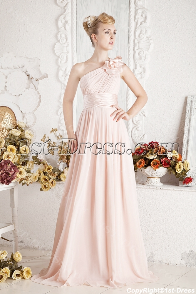 One Shoulder Semi Formal Dress