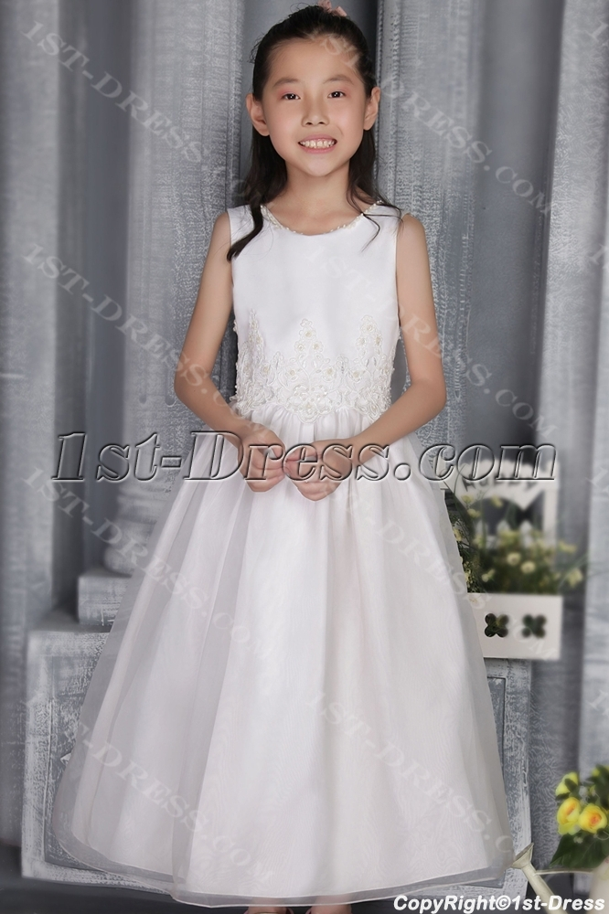 2205812784 Pretty Off White Girl Party Gown 2708:1st-dress.com