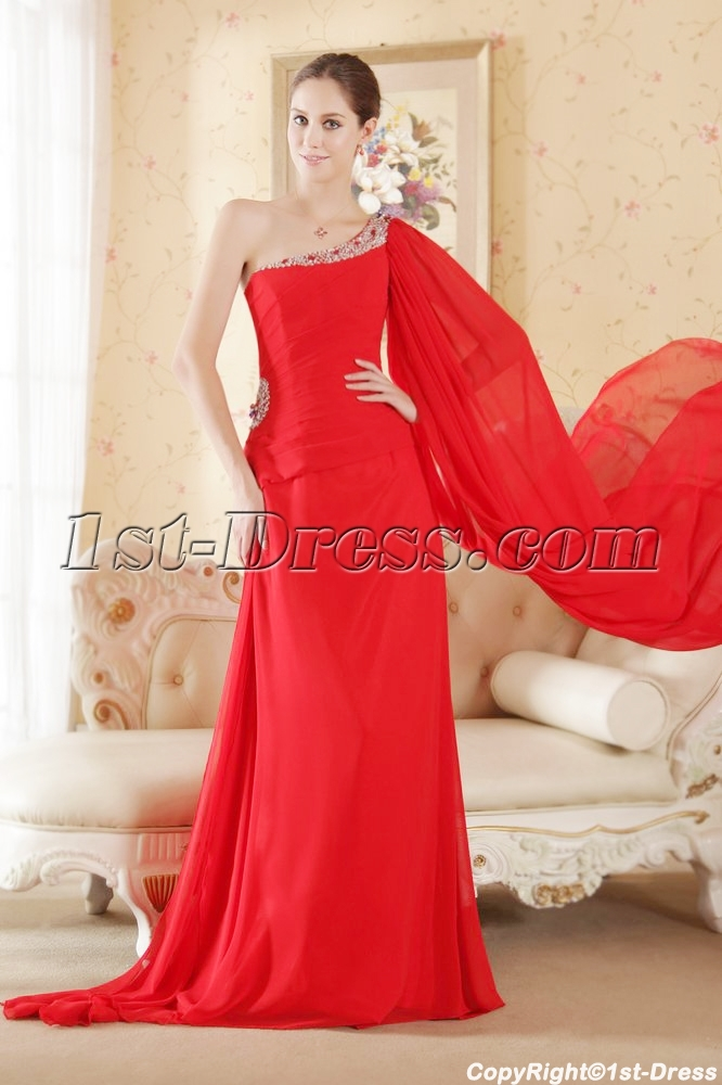 images/201306/big/Red-Chiffon-Beach-Wedding-Gown-with-One-Shoulder-1856-b-1-1371074525.jpg