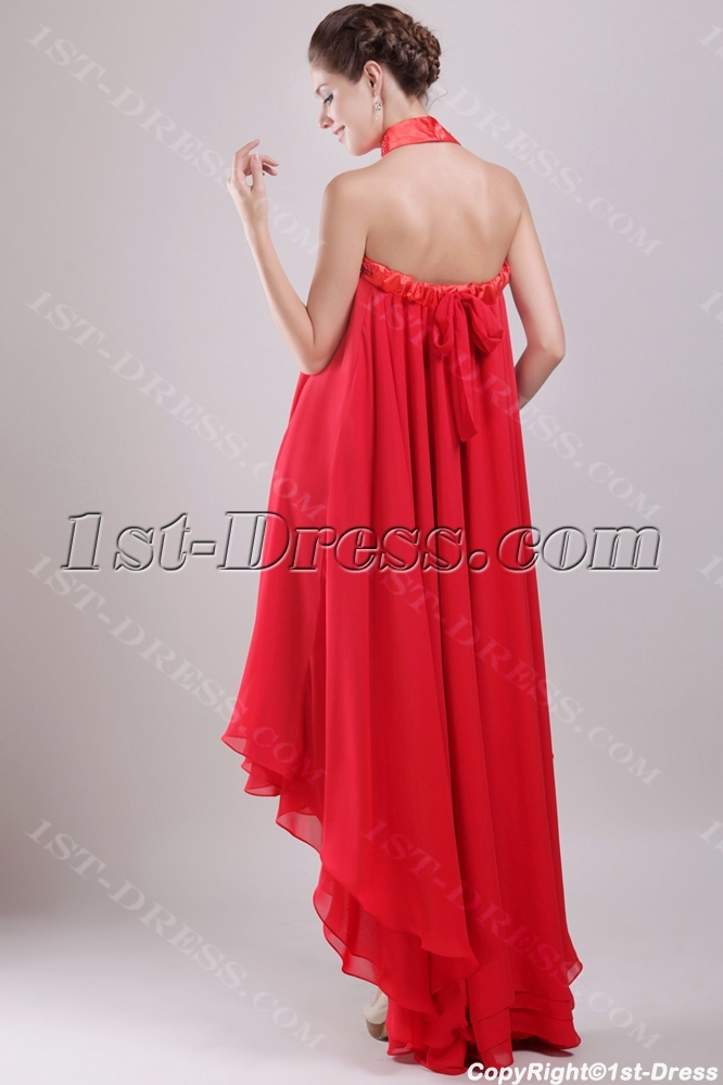 32626433836 prev  next. Specifications. Product Name  Red Chiffon Empire Bridal Gown  for Plus Size with High-low Hem (Free Shipping)