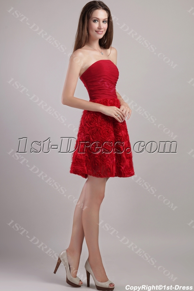 4caf04361717 Red Short Floral Cocktail Dress Sale 2232 (Free Shipping)