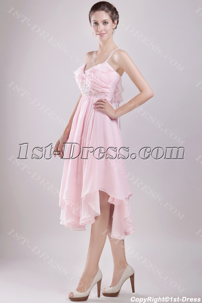 Short Pink Wedding Dresses For The
