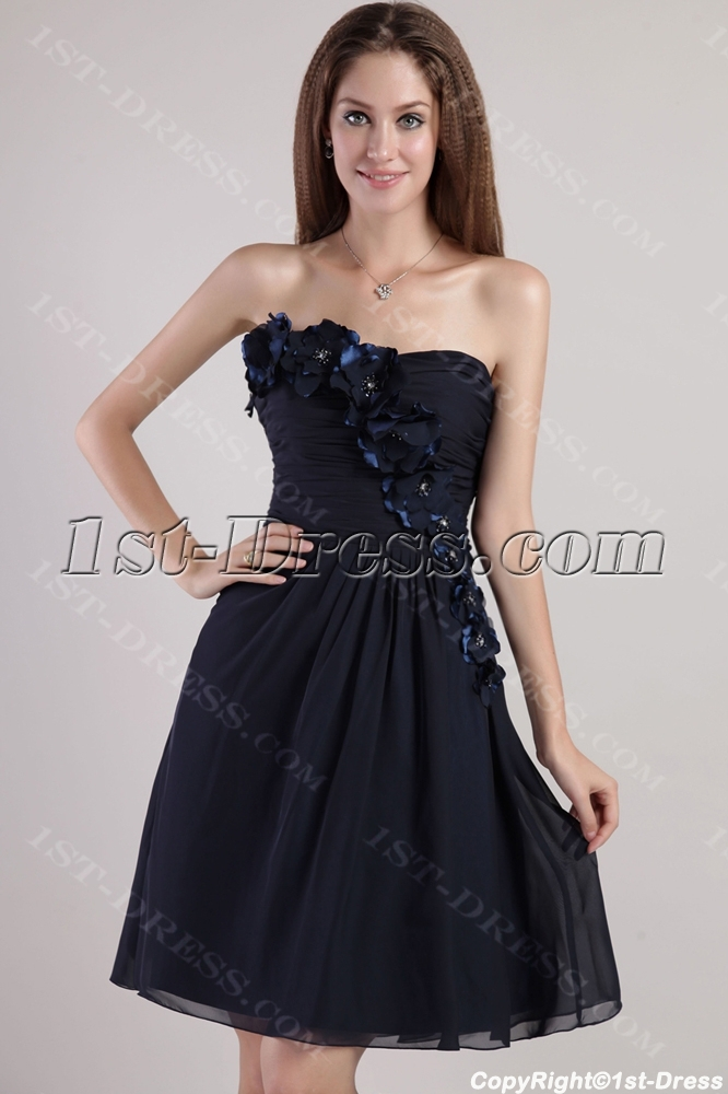 Strapless Little Black Homecoming Dress