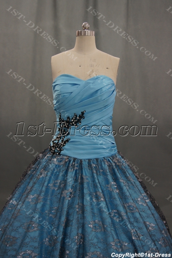 Strapless Sweetheart Satin Plus Size Quinceanera Dress 04702:1st ...