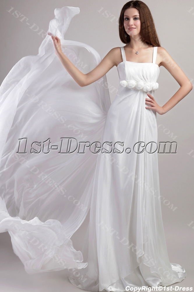 Straps beach wedding dresses casual 1947 1st for Casual flower girl dresses for beach wedding