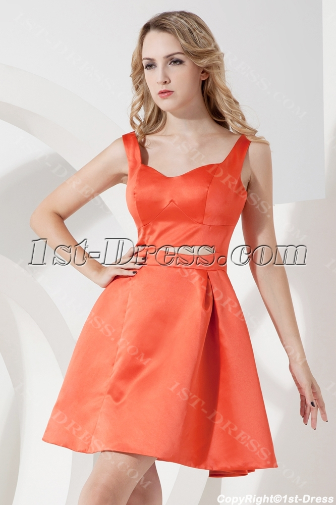 Orange Short Homecoming Dresses