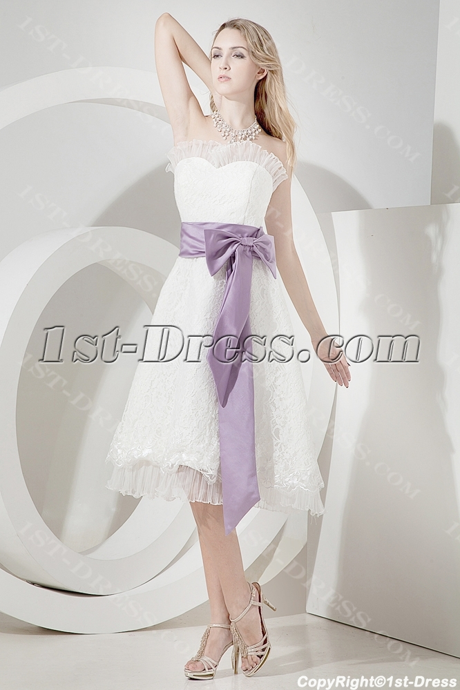 Tea Length Beach Wedding Dresses Plus Size