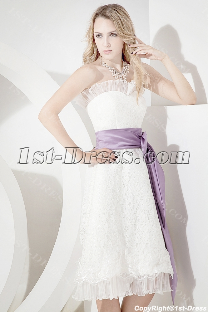 Tea Length Beach Wedding Dresses Plus Size1st Dress