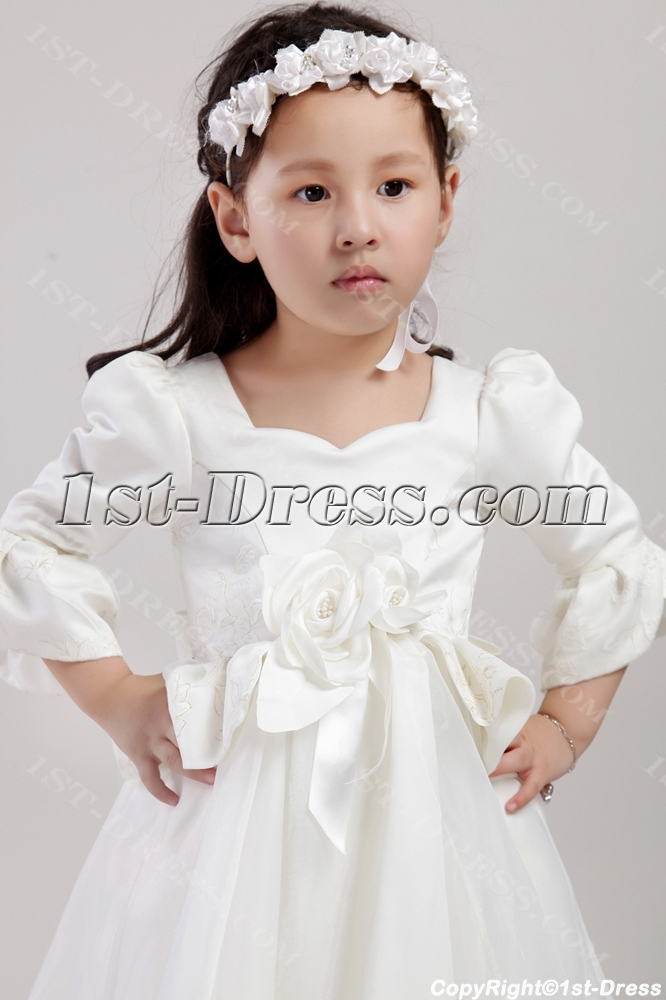 Western Flower Dresses With Sleeves 2438 Loading Zoom