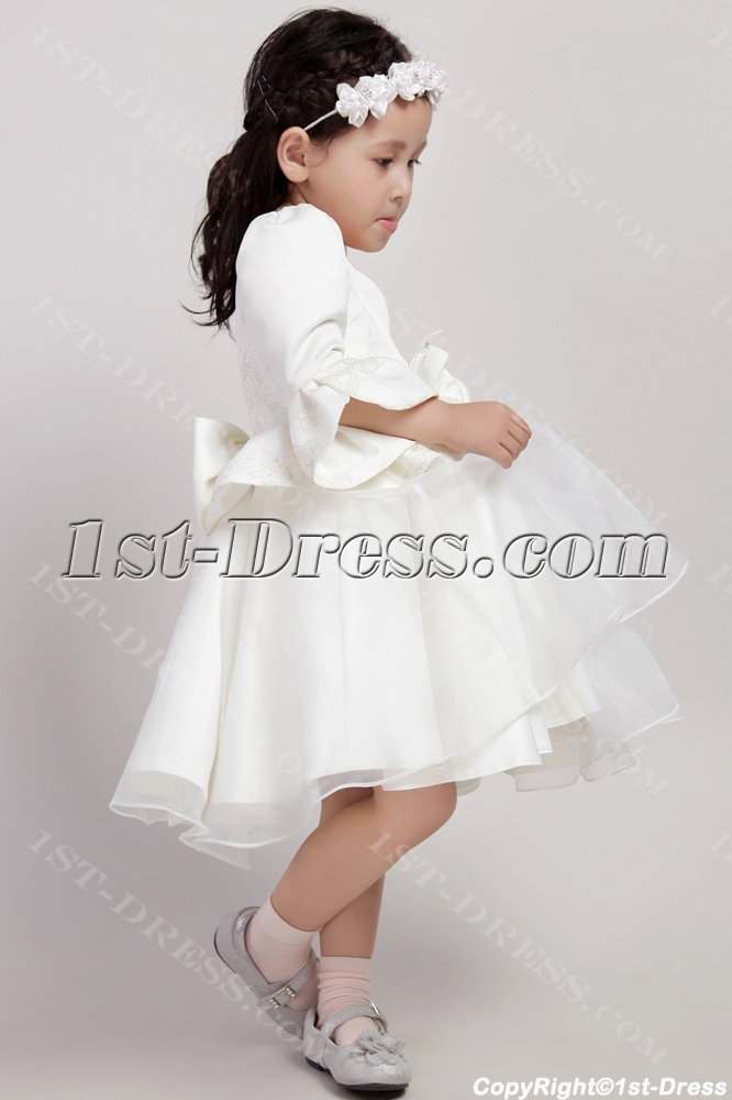 31920c46481 Western Flower Girl Dresses with Sleeves 2438 (Free Shipping)