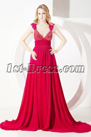 2011 Red Summer Prom Dress for Beach