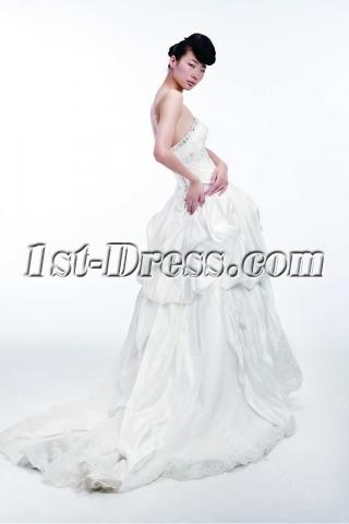 2012 Princess Wedding Dresses with Long Trains