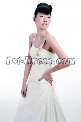 2012 Straps Long Civil Wedding Dresses