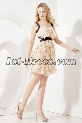 2013 Champagne Short Graduation Dresses for College