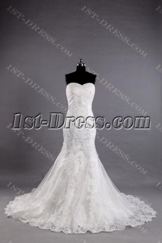 2013 Classic Beaded Lace Sheath Wedding Dresses