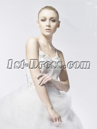 2014 Couture Ball Gown Wedding Dresses with Spaghetti Straps