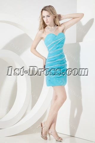 Aqua Mini Homecoming Dresses for Juniors