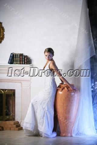 Backless Halter Beach Wedding Gowns