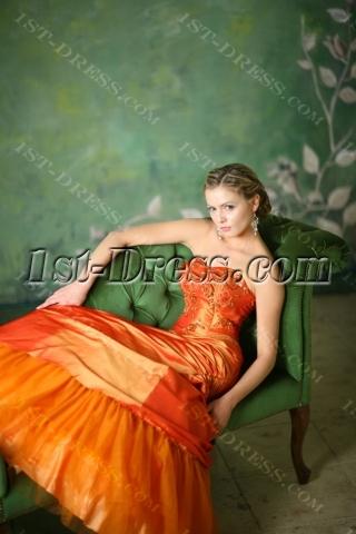 Beautiful Orange Quinceanera Dresses for Plus Size