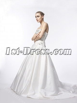 Beautiful Strapless Mature Bridal Gowns