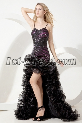 Black and Purple Special Sweet 16 Gown