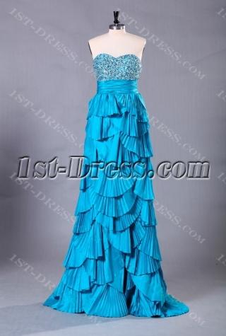 Blue Exclusive Long Sweet 16 Dresses