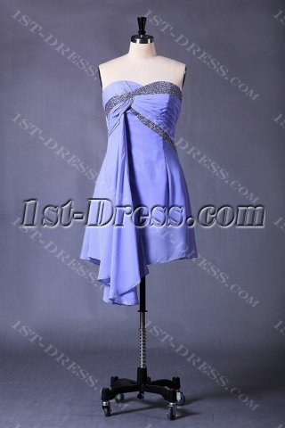 Blue Short Homecoming Dress for Plus Size