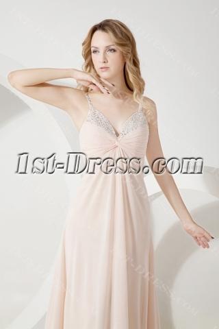 Champagne Chiffon Maternity Bridesmaid Dress