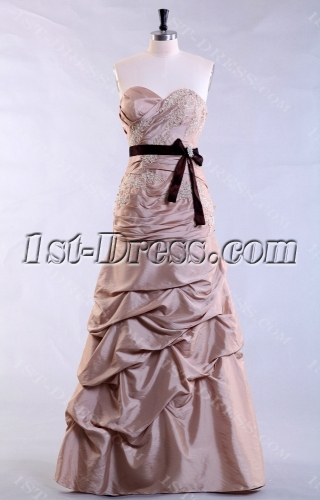 Champagne Long Sweetheart Ball Gown Dress Cheap