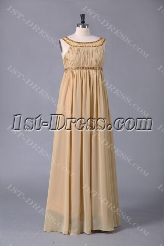 Champagne Scoop Long Special Occasion Plus Size Dresses