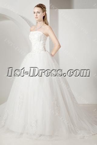 Cheap Elegant Ball Gown Wedding Dress 2013