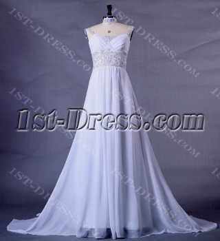 Chiffon Plus Size Wedding Dress for Beach