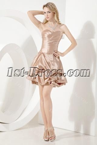 Dark Champagne Cute Sweet Sixteen Dress