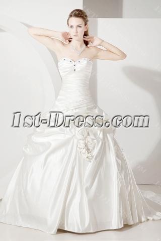 Drop Waist Western Wedding Dress 2012