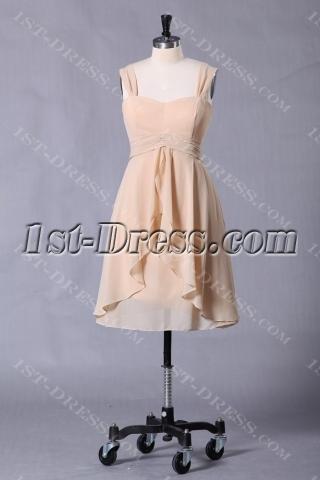 Elegant Champagne Short Graduation Dress for Summer
