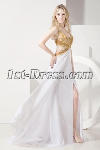 Gold Sexy Cocktail Dress for Party