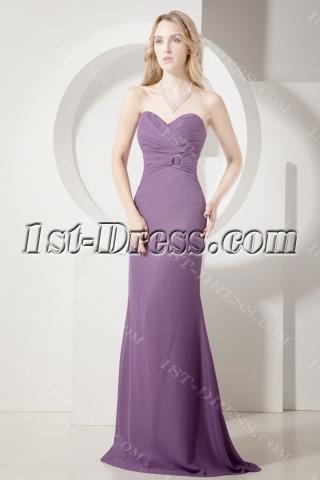Grape Sheath Long Formal Evening Gown