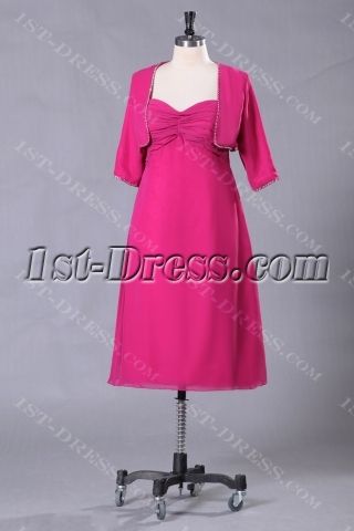 Hot Pink Mother of the Bride Dresses with Jackets