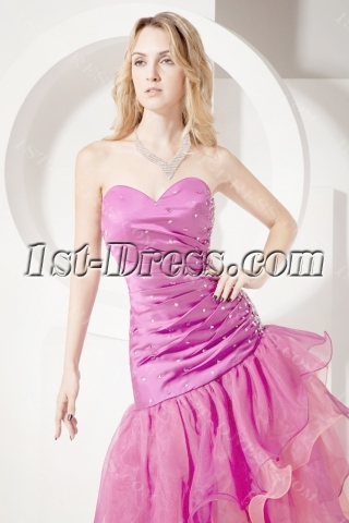 Hot Pink Special 15 Quinceanera Dress with Open Back