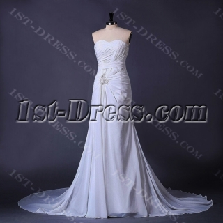 Ivory Beachy Casual Bridal Gown
