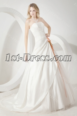 Ivory Cheap Simple Bridal Gowns